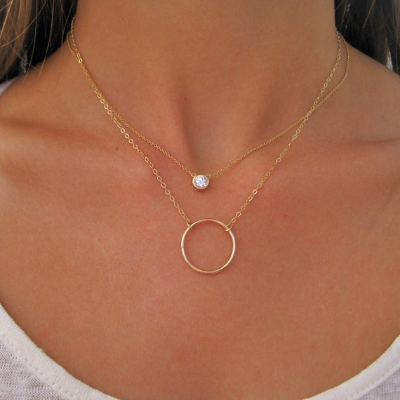 gold round necklaces pendant diamond all white sku jewelry solitaire necklace