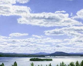 Art Print - Rangeley Lake in July