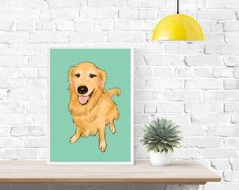 Pet Portrait Custom Illustration,  Personalized Pet Portrait, Animal Drawing, Custom Present, Digital Pet Portrait Gift