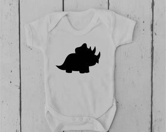 Triceratops | Dinosaur | Baby Vest | Baby Grow | Bodysuit | Body Suit | Baby Clothing | Onesie | Baby Boy | Baby Girl | Gift | Baby Shower