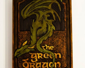 Large Green Dragon Sign