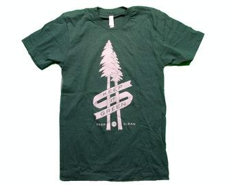 Keep It Green Keep It Clean  American Apparel Shirt