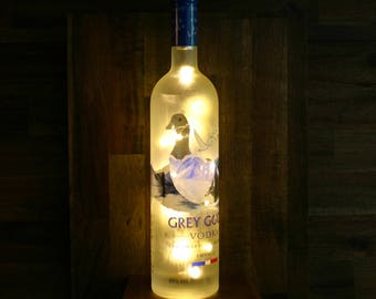 Grey Goose bottles light - bottle lamp - bottle light