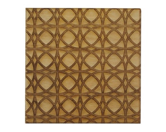 Laser Engraved Wood Coasters - Arabic Style