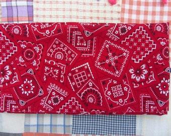 Red White Bandana Print Bandana Scarf Handkerchief
