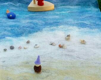 Beach felt Waldorf Playscape Playmat