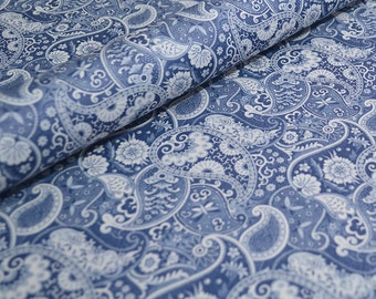 Wrapping Paper, Decorative Craft Paper - Kashmir Blue Paisley