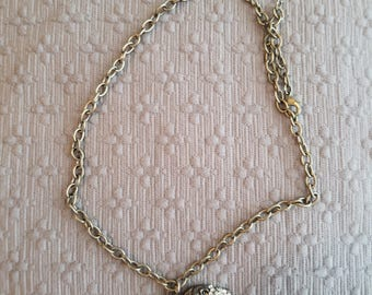 Quirky silver lion necklace