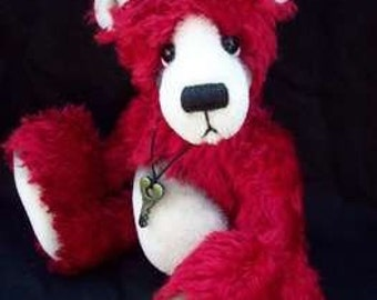 Red the Bear - 11IN artist bear instant e Pattern FREE POSTAGE