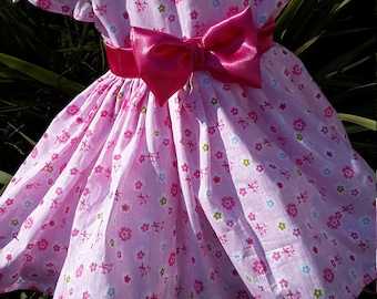 Pretty Pink Fabric Summer Dress