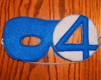 Fantastic 4 - Mr. Fantastic Felt Superhero Mask Costume - Any Size Avaliable