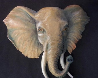 Elephant Head Wall Art