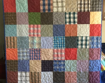 2 Memory Quilts made from Loved Ones clothing for Deborah - Deposit Only