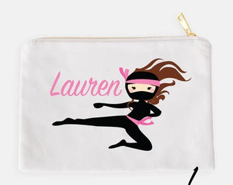 Ninja Pencil Case, Personalized Pouch, Cosmetic Pouch, Custom Pencil Case, School Pouch, Kids Pencil Pouch, Ninja Pouch, Girl Ninja