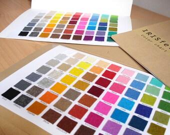 Irisfelt Color Chart
