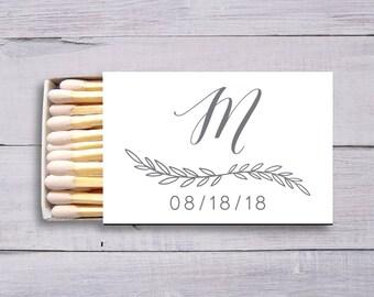 Wedding Matches, Engagement Party, Personalized Matchboxes, Matches, Party Matches Personalized Matches Monogram Matches, Wedding Logo, 1337