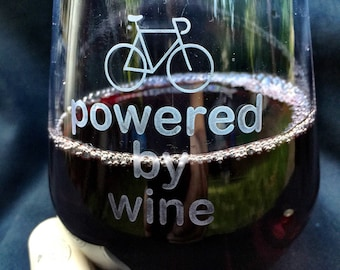 Bike powered by wine glass