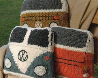Wendy Serenity Super Chunky Camper Van Cushions Knitting Pattern PDF Downoad