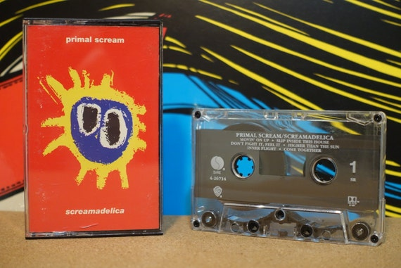 Screamadelica by Primal Scream Vintage Cassette Tape