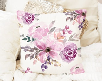 Floral Pattern Pillow Cover, Floral Throw Pillow Covers, Canvas Pillow, Velvet pillow case, floral pillow cover, cushion, decor, pillow case