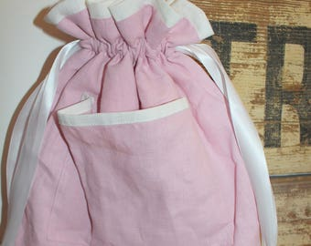 Pyjama/bag hanger with custom pink monkey