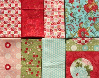 Bliss Bonnie and Camille moda fabrics 8 Fat Quarter Yard set Please Read