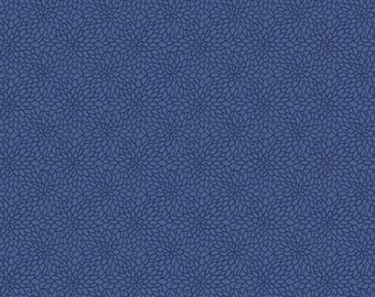 Blue Allover Leaf Dahlia Bloom Wallpaper - Tonal, Contemporary Floral - Abstract Design, Modern Decor - By The Yard - GC0778