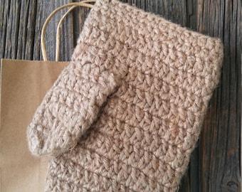 Large Crochet bath mitt - 100% jute,, handmade bath glove , wash cloth, crochet bath Mitt.