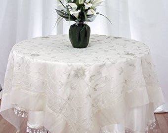 """Table Topper Beaded Cover Square 60""""x60"""""""