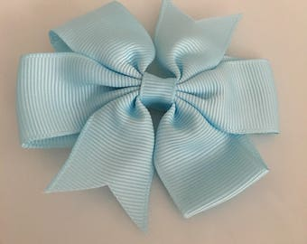 LIGHT BLUE Bow Hair Clip