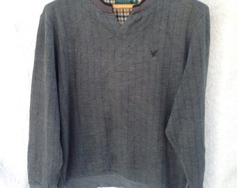 Vintage lyle and scott collection sweatshirt | large size | small embroidery lyle and scott logo