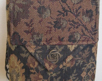 Green/Burgundy/Camel Crossbody Bag