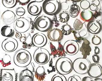 Vintage and Newer Single Earring Lot Junk Jewelry Lot Craft Jewelry Lot Earring Lot