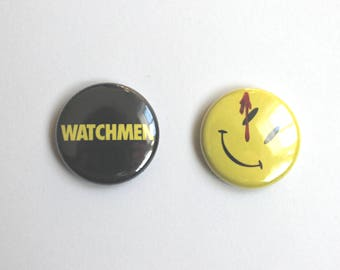 The Watchmen Button Pin Set
