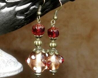 Murano style glass earrings