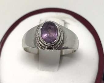 Vintage Amethyst Ring Size 7 February Birthstone Gemstone Purple Jewelry Gift For Mom Girlfriend