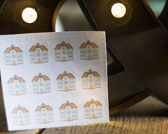 Church Building Planner Stickers