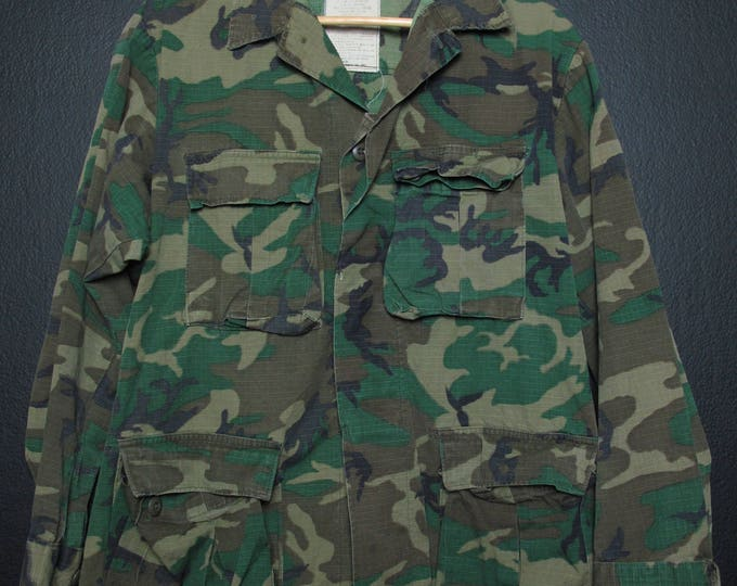 Vintage Camouflage Army Jacket