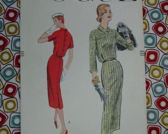 Vintage Pattern c.1956 Vogue No.8960 Dress, Size 16