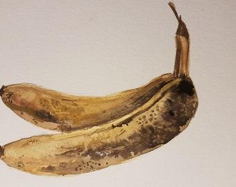 Banana watercolor painting