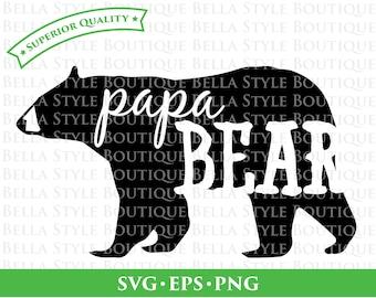 Papa Bear svg png eps cut file