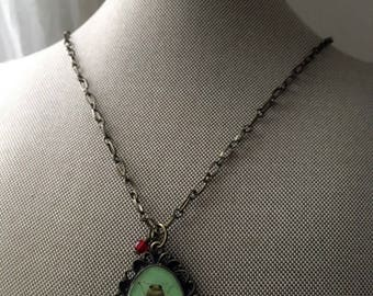 Beetle Jewelry, Beetle Necklace, Beetle Pendant, Jewel Beetle Pendant, Black Beetle Jewelry, Green