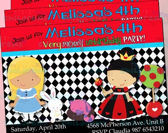 Wonderland Invitations 2