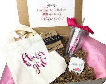 Flower Girl Proposal Box Gift Will you be My | Junior Bridesmaid