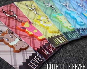 Pokemon Eevee Family key chain