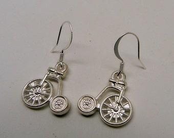 Steampunk bicycle earrings.
