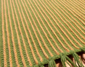 Crocheted rugs, two sided rug, handmade rug, wool rug, rectangular rug 101x85cm/39.8x33.46inches