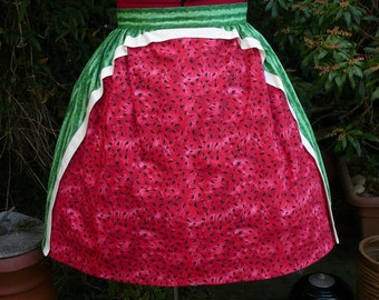 watermelon skirt.  one of a kind. UK seller