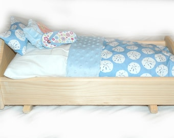 Rock Her to Sleep!  Single Doll Bed - American Made Girl Doll Bed - Fits AG Doll and 18inch doll BittyBaby 18' Doll Furniture