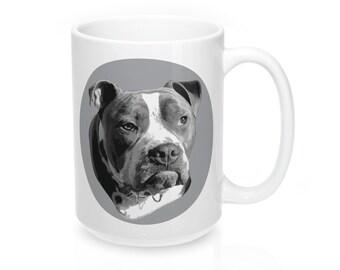 Mornings Are The Pits Grumpy Pitbull Mug 15Oz